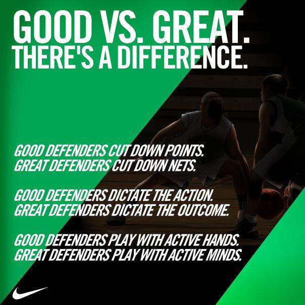 Twitter / nikebasketball: Good Defenders vs. Great ...