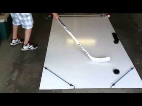 Homemade Hockey Skill Pad - YouTube
