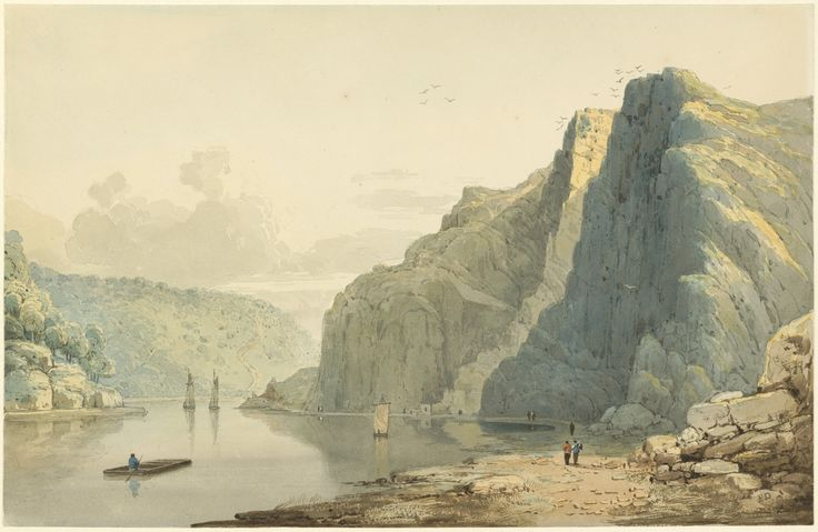 Francis Danby, 'Saint Vincent's Rocks and the Avon Gorge,' 1815/1818, National Gallery of Art, Washington D.C.