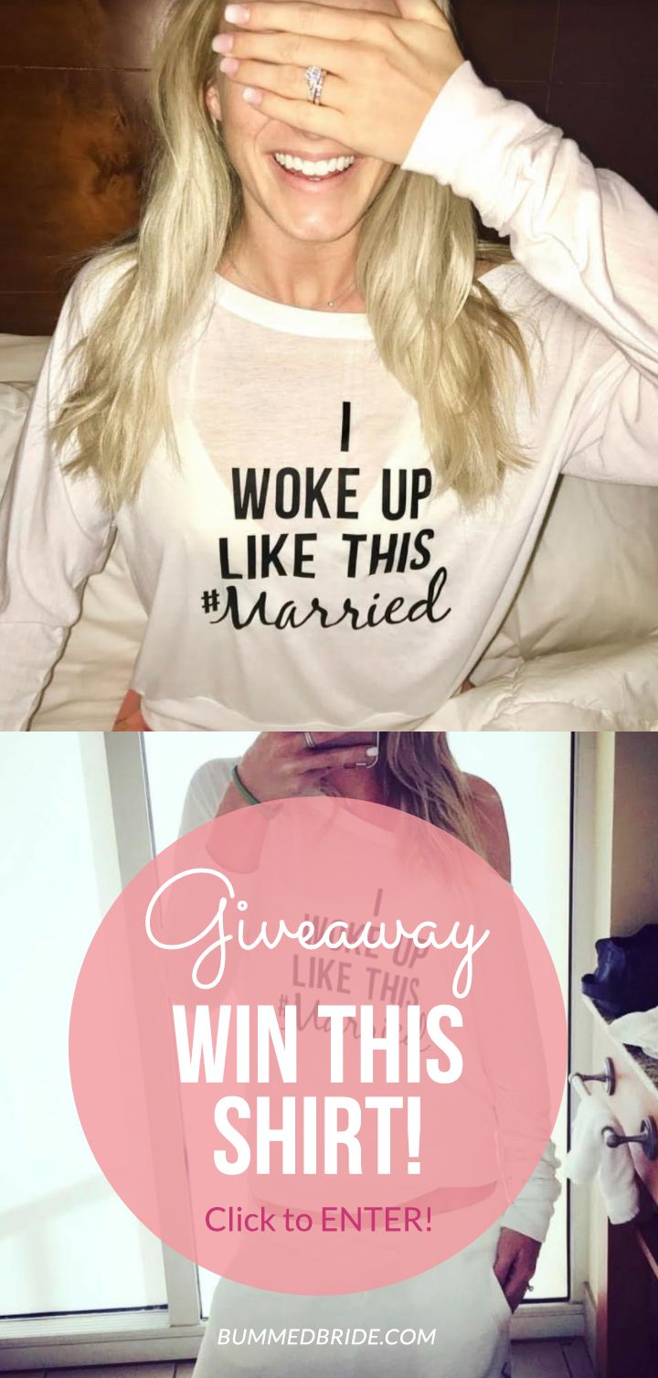 We are so excited to have teamed up with My Sassy Life to GIVEAWAY this I Woke Up Like This #Married Shirt! Click to enter! (Model: instagram.com/shastahypes)