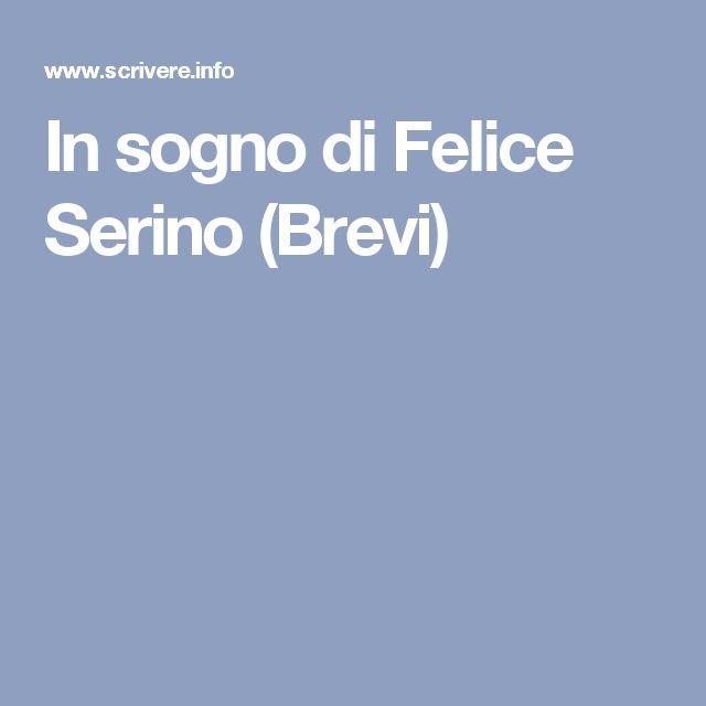 In sogno di Felice Serino (Brevi)