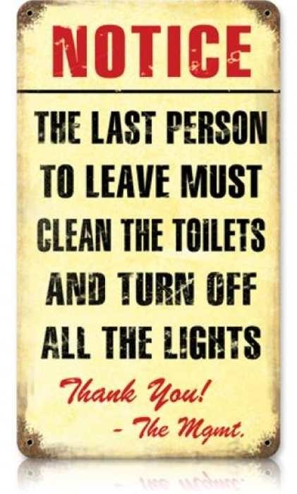 Bathroom Tin Sign
