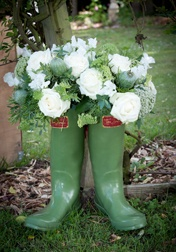 Great idea for floral displays at country weddings