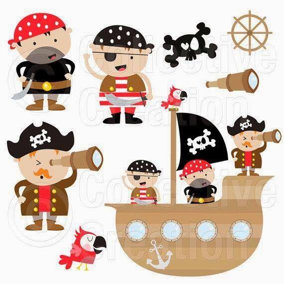 Artesanato e Cia : Piratas - moldes