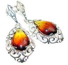 Falling In LOve!! Polish Amber Sterling Silver earrings