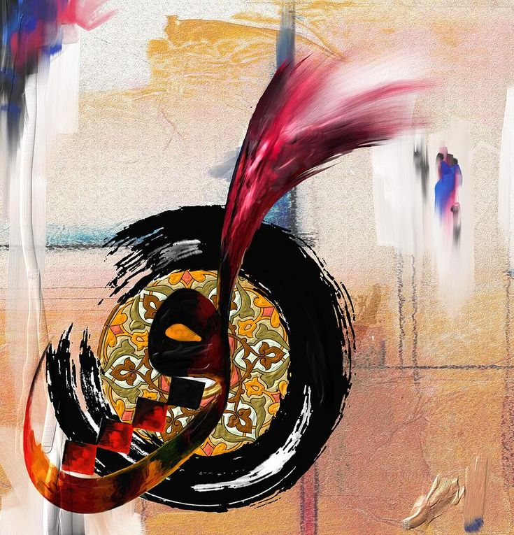 DesertRose,,, calligraphy painting