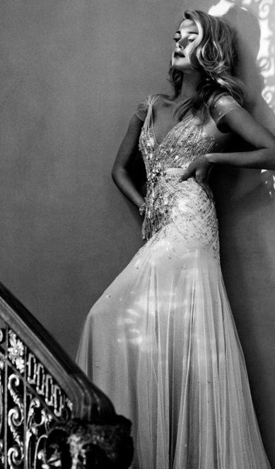 gorgeous Old Hollywood sequin gown