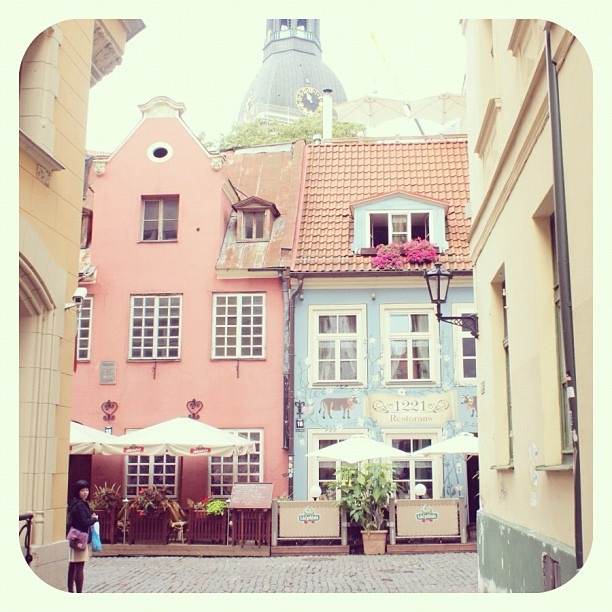 Old town in Riga, Latvia.""