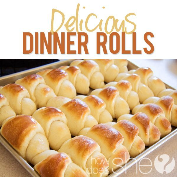 These are my go-to rolls for holidays & get togethers. Makes a huge batch and is easy to boot! Delicious And Easy Dinner Rolls via howdoesshe.com