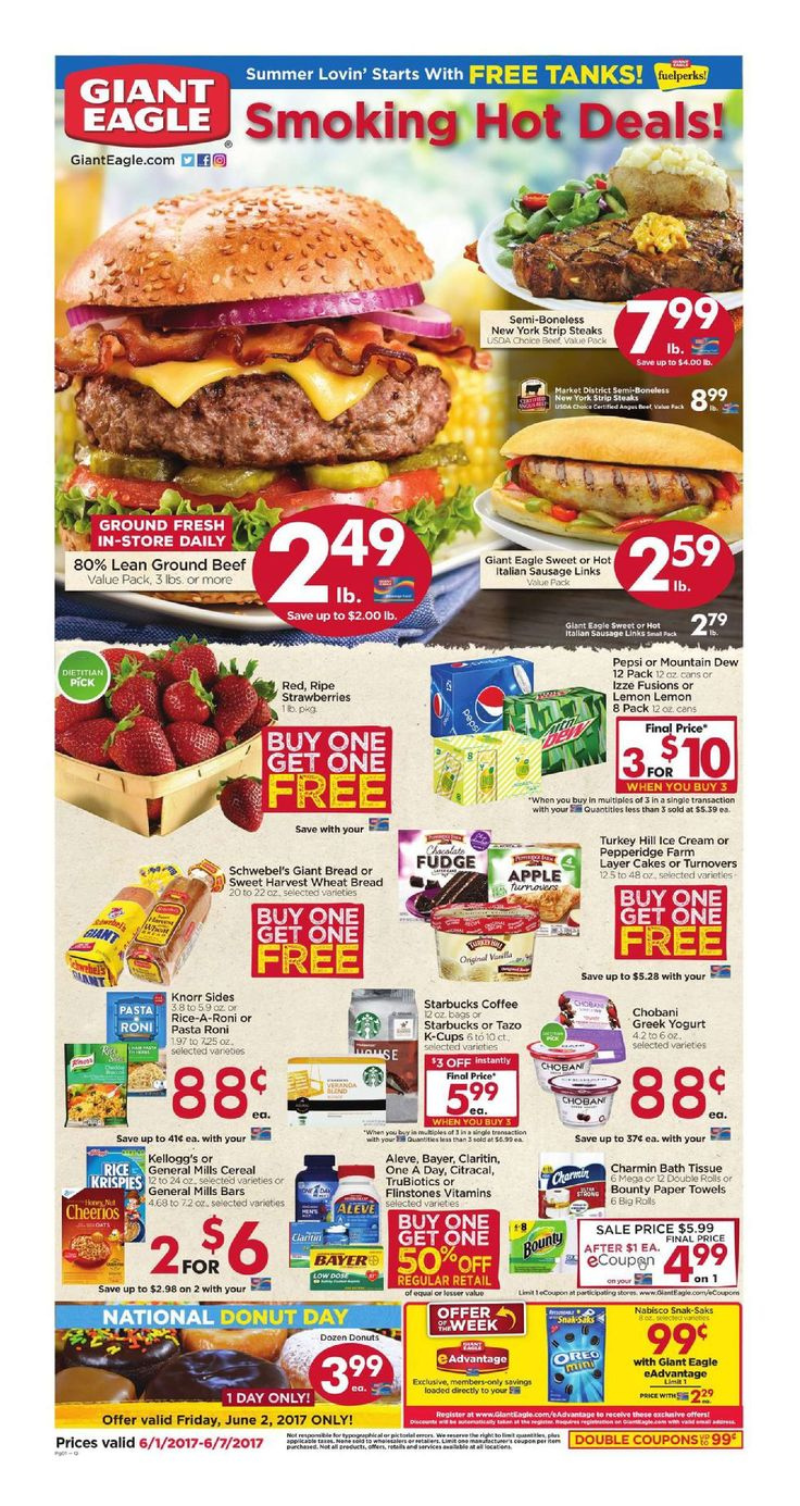 Giant Eagle Weekly Ad June 1 - 7, 2017 - http://www.olcatalog.com/grocery/giant-eagle-weekly-ad.html