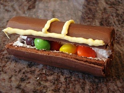 Pirate Treasure Chest - A Little Debbie or Swiss Roll, Skittles, and a touch of frosting...that's all. Today is International Talk Like a Pirate Day