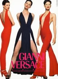 Kristen M in a Versace Ad Shot by Avedon- an amazing campaign