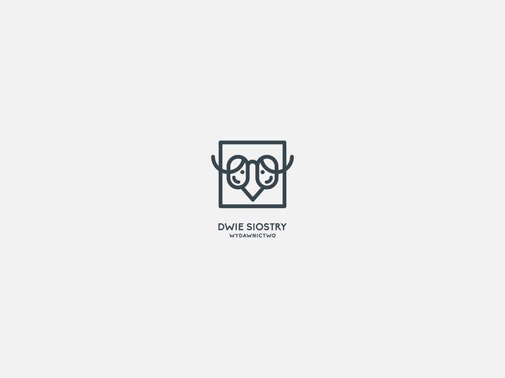 Identyfikacja wizualna. Łódź. DWIE SIOSTRY  | logotype, logo. Ortografika.