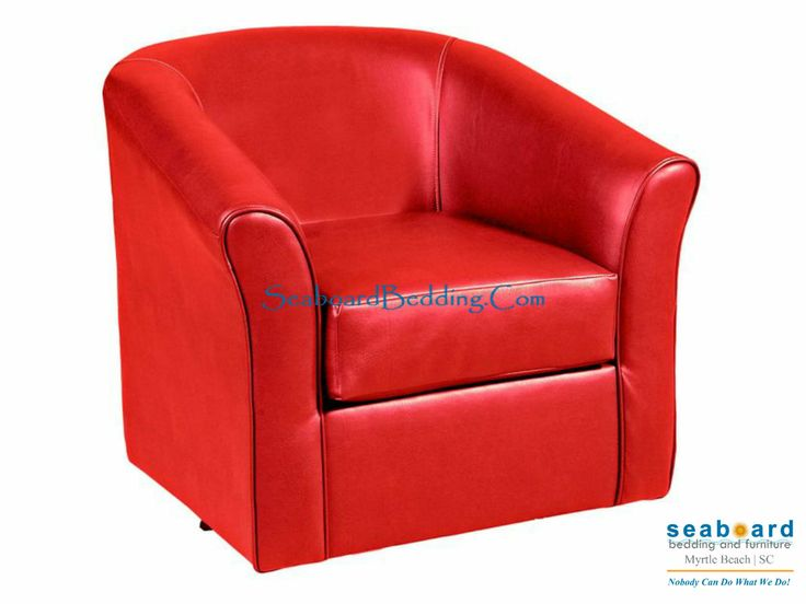 Candy Red swivel barrel chair