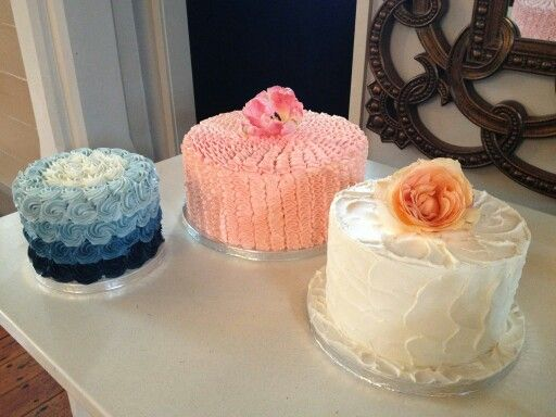 Rustic ruffles n ombre rosette wedding cakes created by MJ www.mjscakes.co.nz in sunny Hawkes Bay NZ delivered to the stunning Old Church restaurant & bar