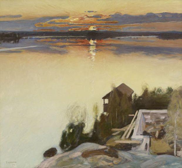 Pekka Halonen - Auringonlasku Tuusulanjärvellä - 1902