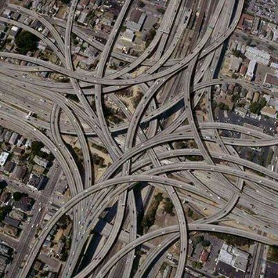 "Dallas interchanges! This is the classic definition of the ""Mixmaster"" of highways!"