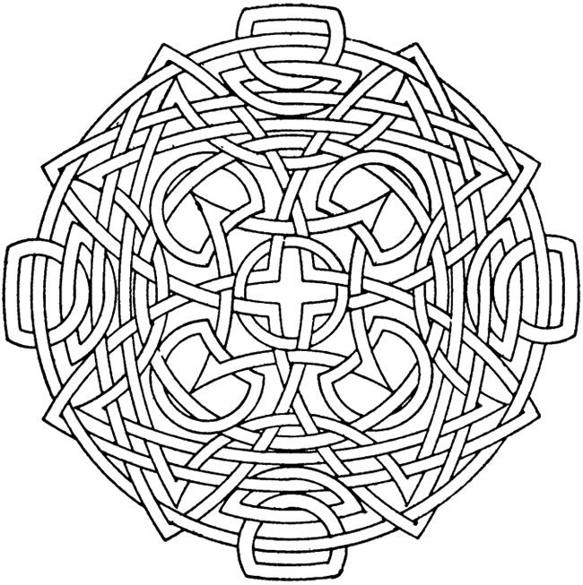 circular mandala kids coloring pages with free colouring pictures to print - Colouring Patterns For Kids