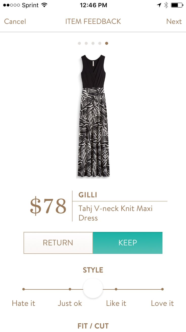 Gilli Tahj V-neck knit maxi dress black would like this in one my my boxes