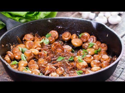 Μανιτάρια σοτέ με καραμελωμένα κρεμμύδια (Video) | Συνταγές - Sintayes.gr