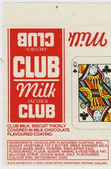 Jacob's Milk Club Biscuit 1980s. I remember this design!