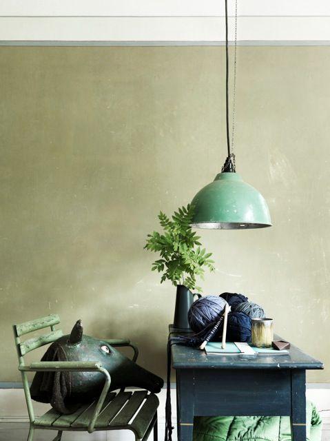 Intérieur vert et bleu / blue and Green decor