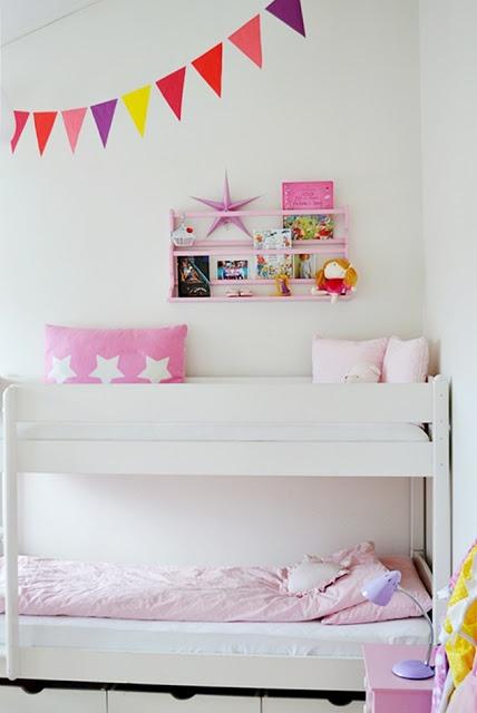 KROnPRINSESSENE: Barnerom  sweet girls room with bunks