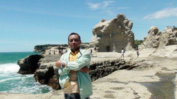 Insie the coral stone beach