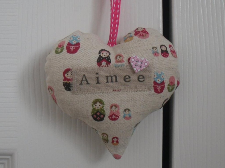 13 best personalisedhandmade gifts for babies images on pinterest a lovely handmade personalised hanging heart which looks lovely hung on the bedroom door or perhaps personalised baby giftshandmade negle Gallery