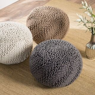 Shop for Hazel Weaved Fabric Round Ottoman Pouf by Christopher Knight Home. Get free shipping at Overstock.com - Your Online Furniture Outlet Store! Get 5% in rewards with Club O! - 21268633