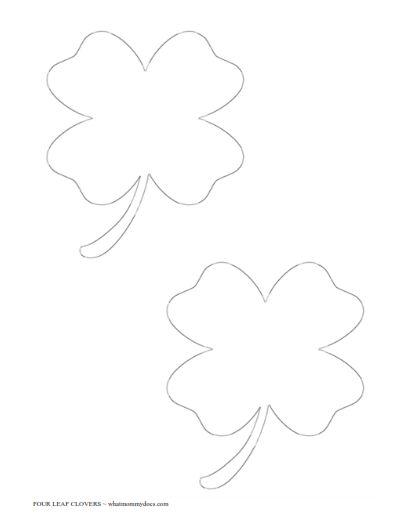 free printable four leaf clover templates  u2013 large  u0026 small