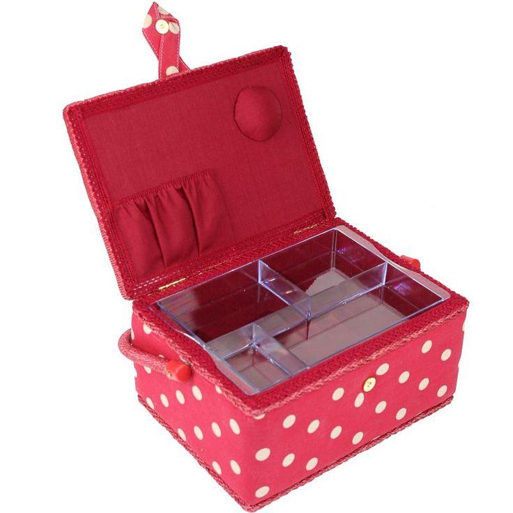Buy Medium Sewing Box Polka Dot From The Sewing Machine Accessories Range  At Hobbycraft.
