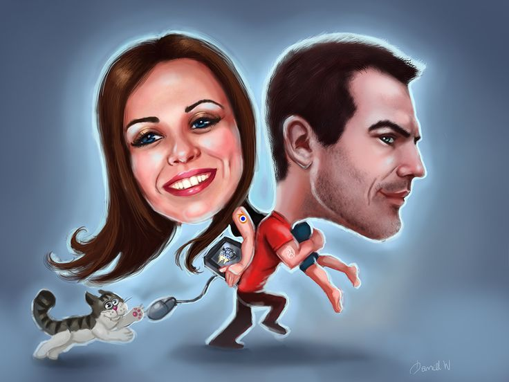caricature by Soulinka (Weronika Daniel)