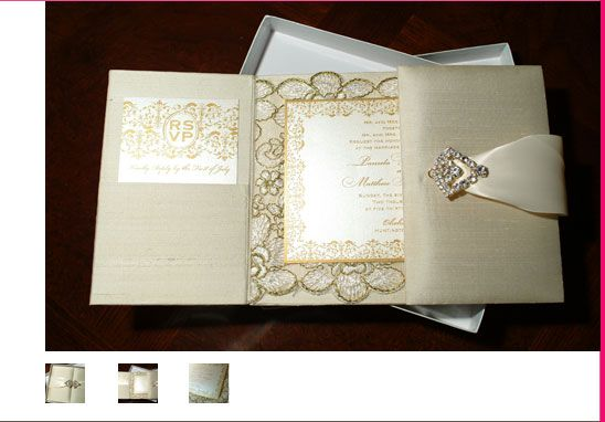The Best Wedding Invitations: The Ultimate In Luxe Wedding Invitations. Silk Covered