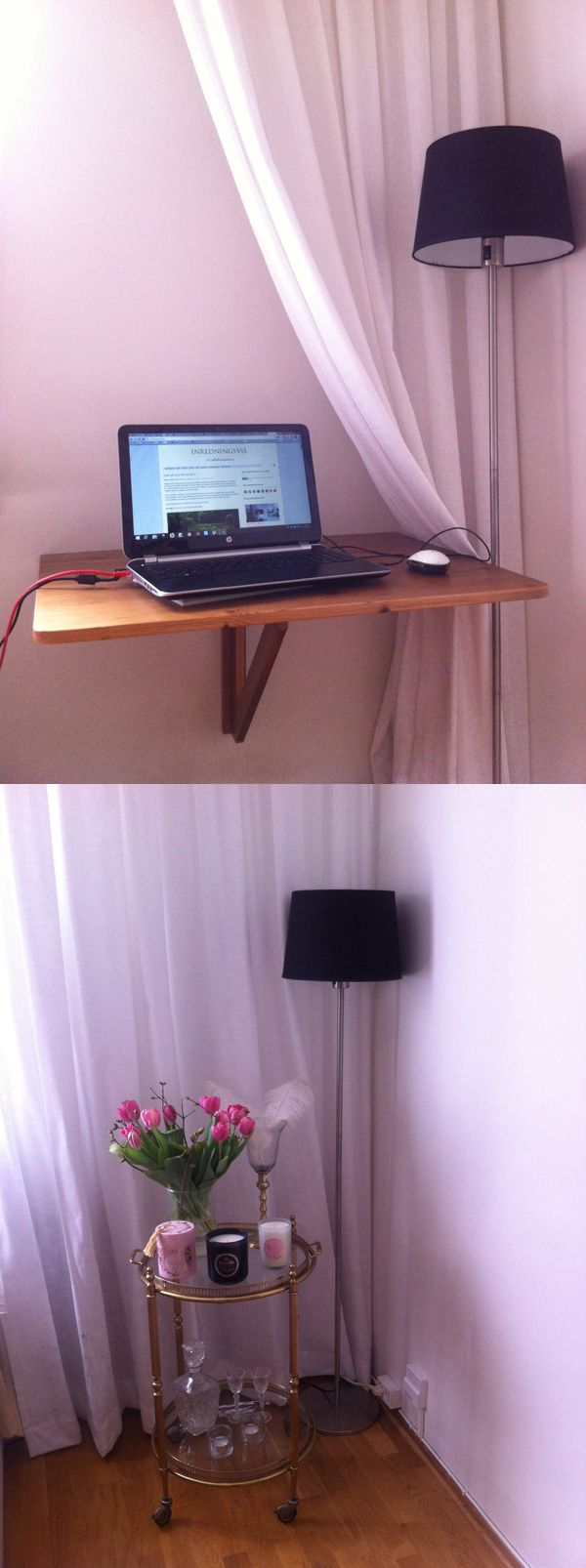 CLICK ON LINK TO SEE - HOW TO GET A HOME OFFICE TURN TO A GLAM CORNER IN ONE SEKUND - http://inredningsvis.se/inredningstips-hemmakontor-blir-glam-horna/  #howto #homeoffice #officefurniture #homedecor #hemmakontor #kontor #föreefter #inredning #inredningstips