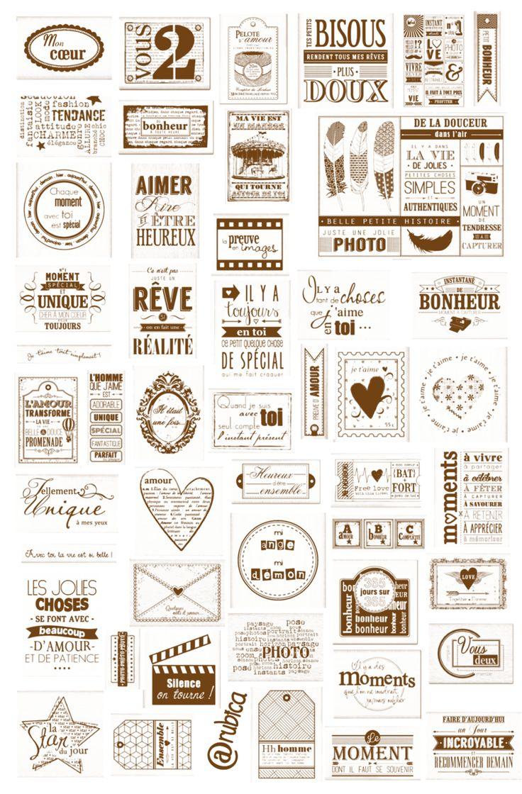 tampons love etiquettes pinterest scrap imprimables et mots. Black Bedroom Furniture Sets. Home Design Ideas