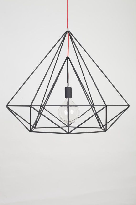 Himmeli lumière diamant pendentif Cage Minimal par panselinos