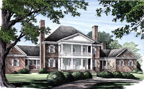 Colonial plantation house plan 86333 house plans home for Historic plantation house plans