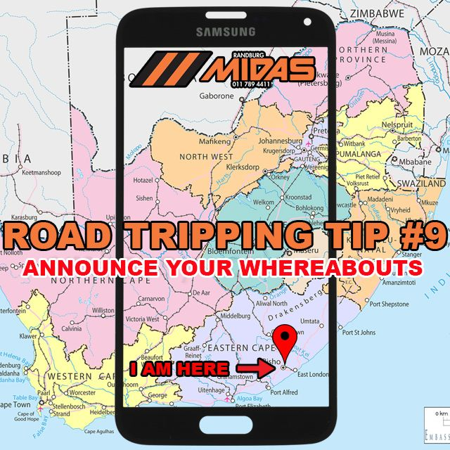Road trip tip 9: Announce your whereabouts CLICK FOR MORE #Roadtripping http://bit.ly/1Xvivcn