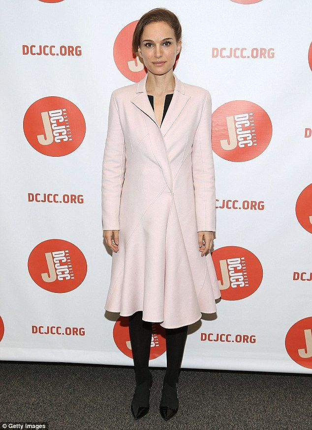 Natalie Portman cuts ladylike figure in pink couture coat at screening