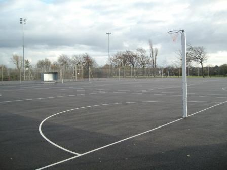netball court - many a freezing Saturday spent at the netball courts.