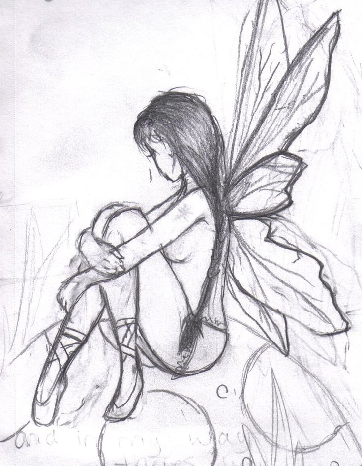 Dark Fairy Drawings Easy
