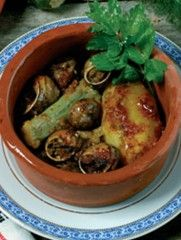 Snails with potatoes and courgettes