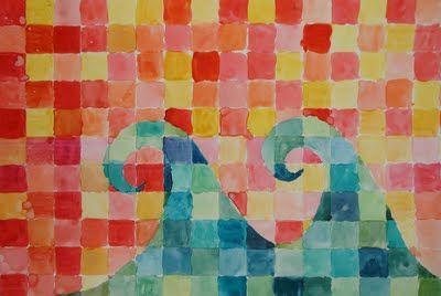 a faithful attempt: Warm/Cool Watercolour Grid