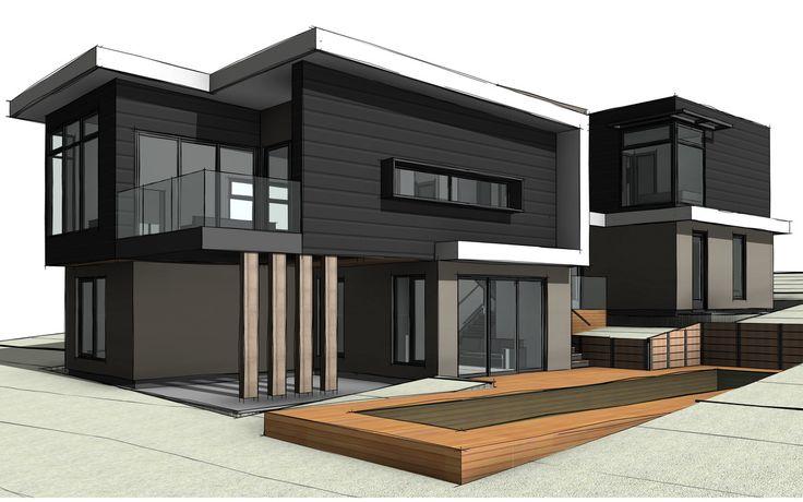 DS32:  External Perspective - Custom designed home in Highton, Victoria. #slopingblock #custombuilder #geelong