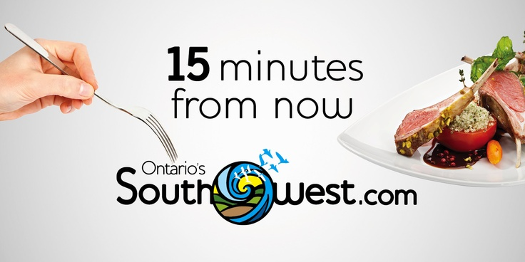Ontario's Southwest Billboard promoting culinary of the region.