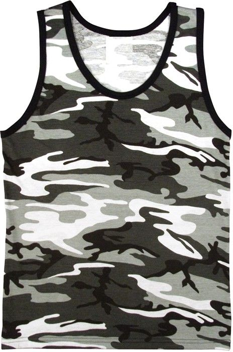 City Camouflage Military Physical Training Tank Top | 6601 | $7.99