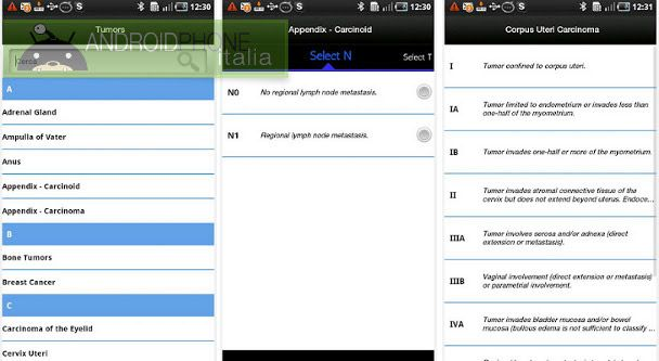 Cancer Stages and Grades, l'app Android per gli oncologi