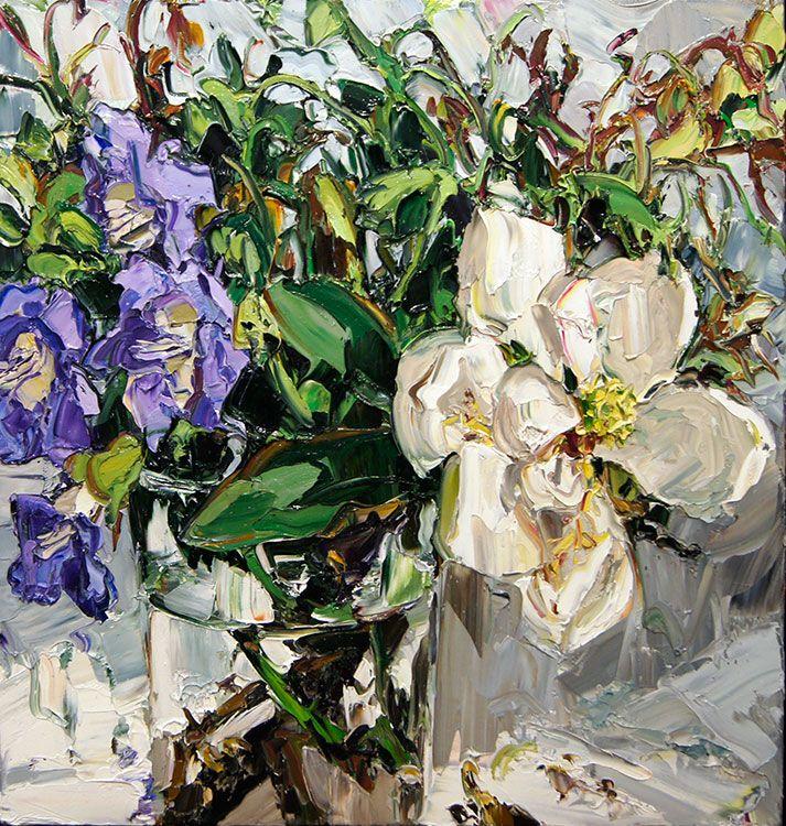 © Nicholas Harding ~ Magnolia and vine ~ 2014 oil on linen at Olsen Irwin Gallery Sydney Australia