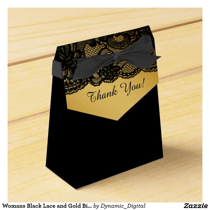 bday party invitation mail%0A Womans Black Lace and Gold Birthday Party Favor Box
